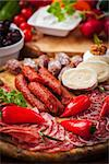 Catering platter with antipasti and fingerfood Stock Photo - Royalty-Free, Artist: Brebca, Code: 400-06694625