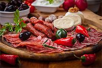 Catering platter with antipasti and fingerfood Stock Photo - Royalty-Freenull, Code: 400-06694626