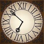 antique clock face Stock Photo - Royalty-Free, Artist: Prikhnenko                    , Code: 400-06695239