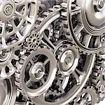 abstract background of the metal gears. Stock Photo - Royalty-Free, Artist: dimdimich                     , Code: 400-06695971