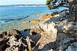 Summer stony beach and clean water surface of Adriatic Sea (Croatia) Stock Photo - Royalty-Free, Artist: Yuriy                         , Code: 400-06696047