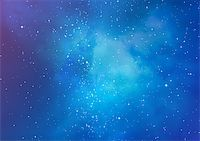 Star field in space and a gas congestion Stock Photo - Royalty-Freenull, Code: 400-06697543