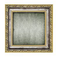 silver and gold frame with canvas interior isolated on white Stock Photo - Royalty-Freenull, Code: 400-06697757