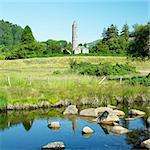 St. Kevins Monastery, Glendalough, County Wicklow, Ireland Stock Photo - Royalty-Free, Artist: phbcz                         , Code: 400-06699629