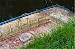 old rowing boat in a canal Stock Photo - Royalty-Free, Artist: hansenn                       , Code: 400-06699672
