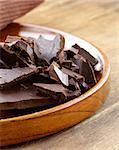 black dark chocolate chopped into pieces Stock Photo - Royalty-Free, Artist: Dream79                       , Code: 400-06700889