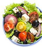 Fresh delicious Greek salad close up. Stock Photo - Royalty-Free, Artist: lidante                       , Code: 400-06701402