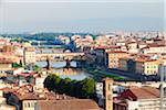 View of Arno River and Ponte Vecchio, Florence, Tuscany, Italy Stock Photo - Premium Rights-Managed, Artist: F. Lukasseck, Code: 700-06701745