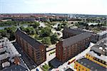 Overview of Streets and Apartment Buildings, Copenhagen, Denmark Stock Photo - Premium Royalty-Free, Artist: Atli Mar Hafsteinsson, Code: 600-06701815