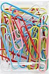 close-up of group of multi-colored paperclips Stock Photo - Premium Rights-Managed, Artist: photo division, Code: 700-06701944