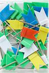 close-up of group of pins with colorful flags Stock Photo - Premium Rights-Managed, Artist: photo division, Code: 700-06701946