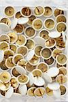close-up of group of white and gold thumbtacks Stock Photo - Premium Rights-Managed, Artist: photo division, Code: 700-06701947
