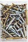 close-up of assortment of gold and silver metal screws Stock Photo - Premium Rights-Managed, Artist: photo division, Code: 700-06701950