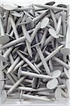 close-up of group of metal nails Stock Photo - Premium Rights-Managed, Artist: photo division, Code: 700-06701951