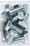 close-up of silver colored metal screws Stock Photo - Premium Rights-Managed, Artist: photo division, Code: 700-06701958