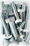 close-up of group of silver colored metal screws Stock Photo - Premium Rights-Managed, Artist: photo division, Code: 700-06701962