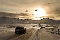 remote car - Car driving on snowy road in Iceland Stock Photo - Premium Royalty-Freenull, Code: 600-06702152