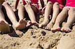 Sand Covered Legs and Feet of Four Children Stock Photo - Premium Rights-Managed, Artist: ableimages, Code: 822-06702175