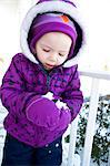 Girl Making Snowball Stock Photo - Premium Rights-Managed, Artist: ableimages, Code: 822-06702188