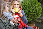 Mother and Daughter Having Hot Drinks Outdoors Stock Photo - Premium Rights-Managed, Artist: ableimages, Code: 822-06702210