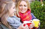 Mother and Daughter Having Hot Drinks Outdoors Stock Photo - Premium Rights-Managed, Artist: ableimages, Code: 822-06702233