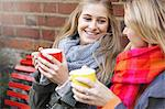 Mother and Daughter Having Hot Drinks Outdoors Stock Photo - Premium Rights-Managed, Artist: ableimages, Code: 822-06702250