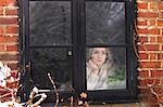 Teenage Girl Looking Out of Window Stock Photo - Premium Rights-Managed, Artist: ableimages, Code: 822-06702270