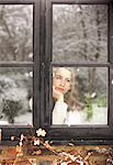 Teenage Girl Looking Out of Window Stock Photo - Premium Rights-Managed, Artist: ableimages, Code: 822-06702281
