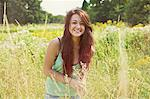 Smiling Teenage Girl in Meadow Stock Photo - Premium Rights-Managed, Artist: ableimages, Code: 822-06702330
