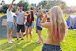 Back View of Woman Taking a Photograph of Group of Teenagers Stock Photo - Premium Rights-Managed, Artist: ableimages, Code: 822-06702346