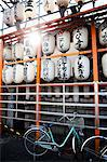 Japanese Lanterns and Parked Bicycle Stock Photo - Premium Rights-Managed, Artist: ableimages, Code: 822-06702351