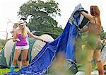 Teenage Girls Erecting Tent Stock Photo - Premium Rights-Managed, Artist: ableimages, Code: 822-06702361