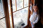 Young Girl Standing by Dirty Window Stock Photo - Premium Rights-Managed, Artist: ableimages, Code: 822-06702427