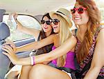 Teenage Girls Taking Self Portrait Photo Inside Car Stock Photo - Premium Rights-Managed, Artist: ableimages, Code: 822-06702455