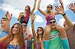 Group of Teenagers Cheering at Music Festival Stock Photo - Premium Rights-Managed, Artist: ableimages, Code: 822-06702493