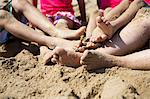 Sand Covered Legs and Feet of Woman and Four Children Stock Photo - Premium Rights-Managed, Artist: ableimages, Code: 822-06702540