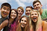 Group of Teenagers Cheering at Music Festival Stock Photo - Premium Rights-Managednull, Code: 822-06702577