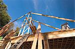 Roof rafters on home under construction Stock Photo - Premium Royalty-Free, Artist: Uwe Umstätter, Code: 6105-06702851