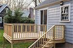 Newly constructed deck on residential home Stock Photo - Premium Royalty-Freenull, Code: 6105-06702967