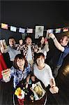 Young people cheering in a bar Stock Photo - Premium Rights-Managed, Artist: Aflo Relax, Code: 859-06711149