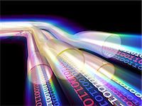 streaming - Information highway. Conceptual computer artwork of data transfer in super high-speed cables. Stock Photo - Premium Royalty-Freenull, Code: 679-06713842