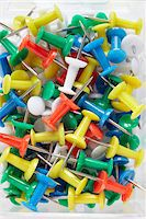 supply - close-up of multi-colored push pins Stock Photo - Premium Rights-Managednull, Code: 700-06714041