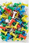 close-up of multi-colored push pins Stock Photo - Premium Rights-Managed, Artist: photo division, Code: 700-06714041