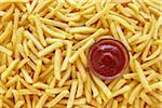 still life of french fries with ketchup Stock Photo - Premium Rights-Managed, Artist: photo division, Code: 700-06714111