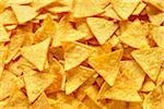 Close-Up of tortilla chips (full frame) Stock Photo - Premium Rights-Managed, Artist: photo division, Code: 700-06714133