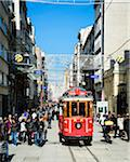 Turkey, Marmara, Istanbul, old tram in Istiklal Caddesi (Independence Avenue) in Beyoglu neighborhood Stock Photo - Premium Rights-Managed, Artist: Siephoto, Code: 700-06714217