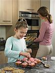 Mother and daughter baking together Stock Photo - Premium Royalty-Free, Artist: Aflo Relax, Code: 649-06716594