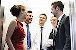 Doctors and business people in elevator Stock Photo - Premium Royalty-Free, Artist: Blend Images, Code: 649-06716735