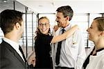 Doctor and businesswoman hugging Stock Photo - Premium Royalty-Free, Artist: ableimages, Code: 649-06716741