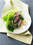 Plate of lamb and grape salad Stock Photo - Premium Royalty-Free, Artist: Cultura RM, Code: 649-06716769